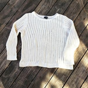 a.n.a knit crew sweater womens cream size 2X
